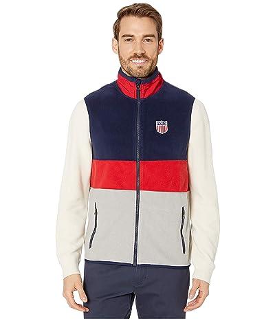 Polo Ralph Lauren Americana Fleece Vest (Andover Heather Multi) Men