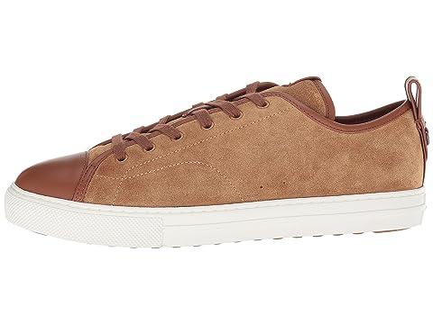 COACH Peanut Top Low LionPilota Mixed Cap Sneaker Toe C121 Black Material rrSCq