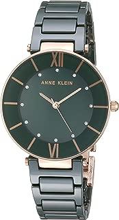 Women's AK/3266 Swarovski Crystal Accented Ceramic Bracelet Watch