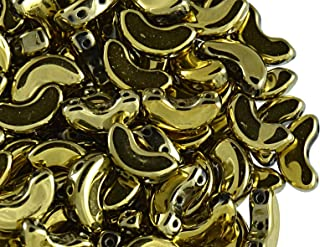 25pcs Arcospar Puca Beads, Full Dorado