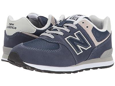 New Balance Kids GC574v1 (Big Kid) (Navy/Grey) Boys Shoes
