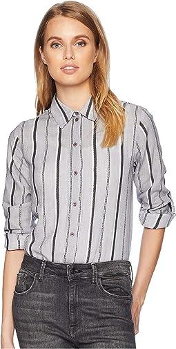 Stripe Shirting Button Down Shirt