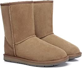 UGG Classic Short Boots for Women's Men's Uggs Australian Sheepskin Snow Boot Water Resistant Black Grey Chestnut Chocolate Shoes