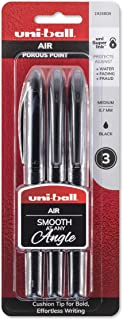 uni-ball AIR Rollerball Pens, Fine Point (0.7mm), Black, 3 Count