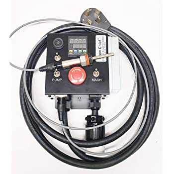 Amazon Com 120v Electric Mash Tun Rims Recirculating Infusion Mash System Tube Controller With Pump Control Kitchen Dining