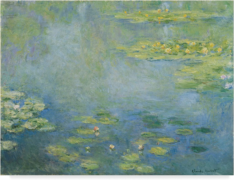Trademark Fine Art Waterlilies by Claude Monet, 14x19, Multicolor