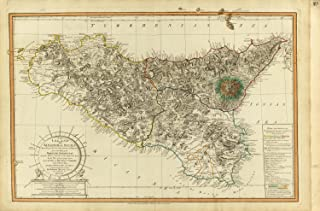 Map Poster - Sicily. - 24