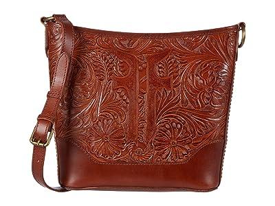 Frye Melissa Artisan Small Hobo Crossbody (Cognac) Handbags