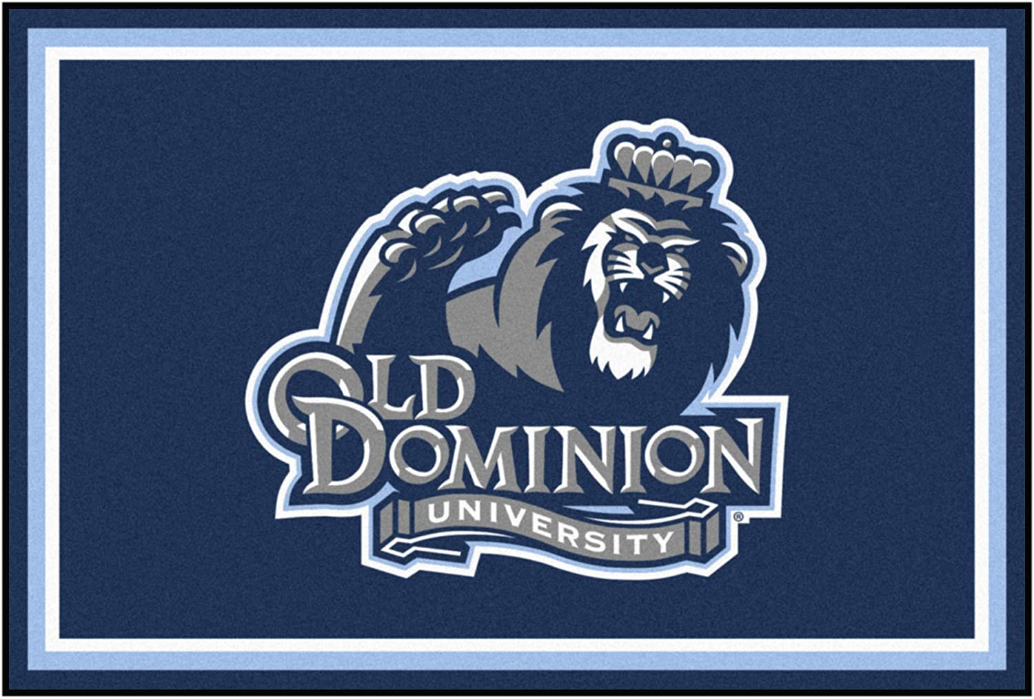 Old Oakland Mall Dominion University 5ft. x Selling and selling Plush Rug ft. 8 Area