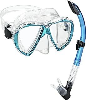 Phantom Aquatics Velocity Scuba Snorkeling Mask Snorkel Set