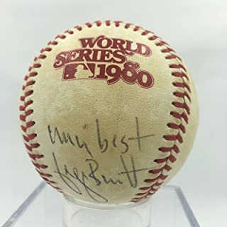 Rare George Brett Signed Game Used 1980 World Series Baseball PSA DNA