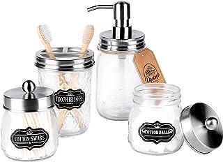 Aozita Mason Jar Bathroom Accessories
