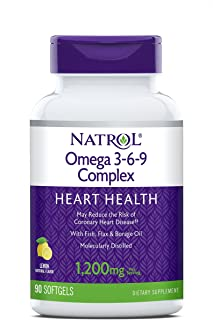 Sponsored Ad - Natrol Omega 3-6-9 Complex Softgels, 1,200mg, 90-Count
