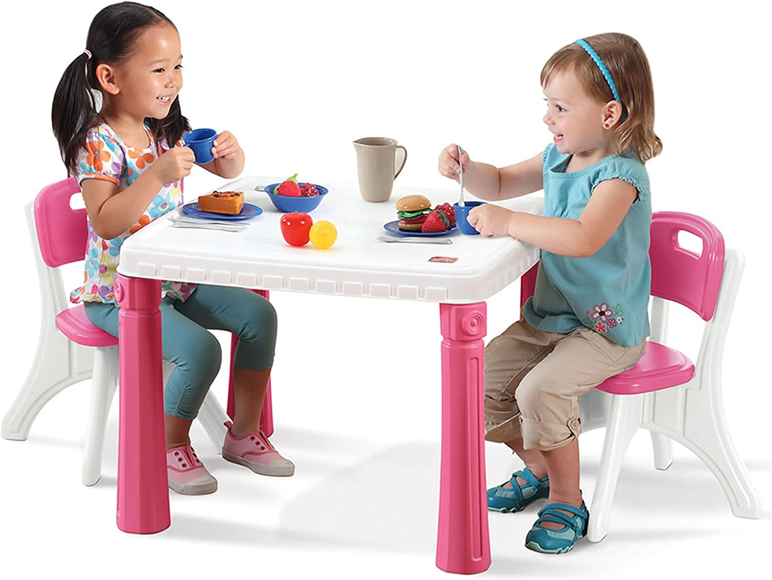 Step9 LifeStyle Kitchen Table and Chairs Set, Pink   9