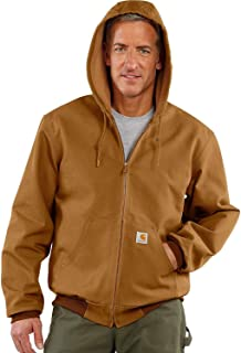 Men's Thermal Lined Canvas Hooded Jacket