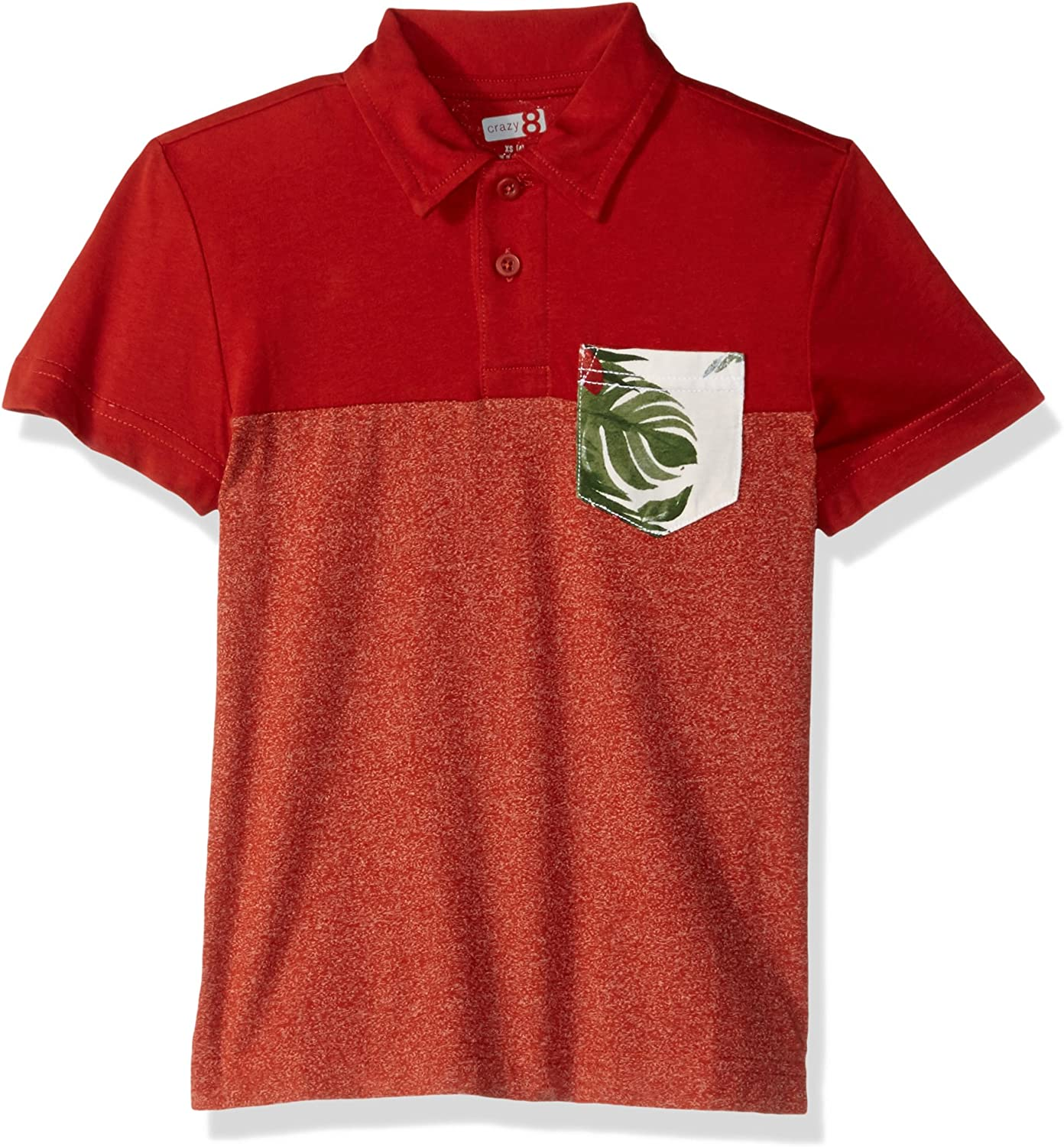 Crazy 8 Boys Short Sleeve Color Block Pocket Polo Tee