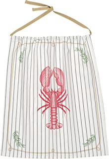 Now Designs Reusable Cotton Lobster Bib, Lobster Catch Design