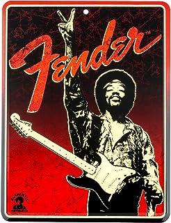 Fender Original de Jimi Hendrix Símbolo de la paz diseño Tin Sign 910-0279-000