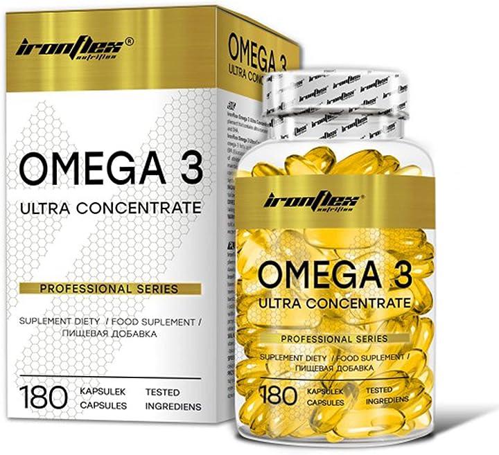 Omega 3 ironflex ultra confezione da 1 x 180 capsule - acidi grassi sani - dha ed epa con vitamina e MP_1000023575