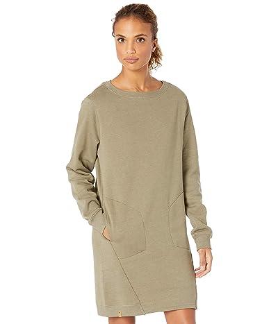 tentree Fleece Crew Dress (Vetiver Green Heather) Women