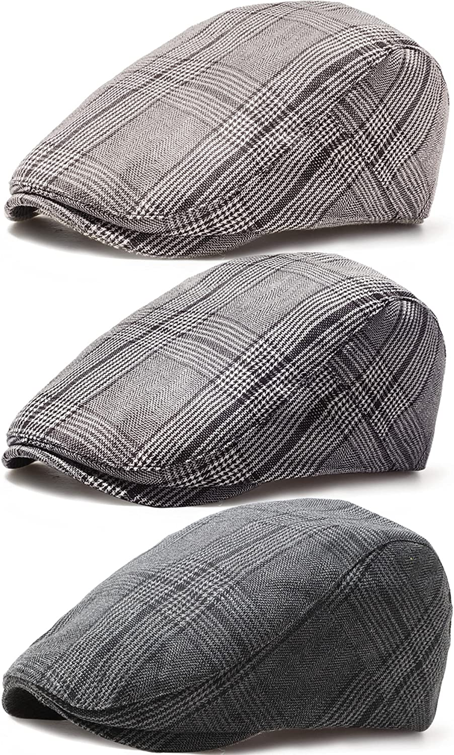 3 Pieces Cabbie Cap Flat Ivy Hat Newsboy Gatsby P Adjustable Challenge the wholesale lowest price of Japan