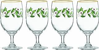 Lenox 849606 Holiday 4-Piece Iced Beverage Glass Set