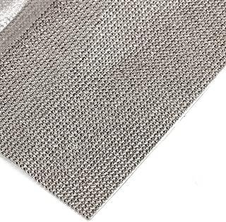 240X400mm Crystal Rhinestone Trim Hotfix Strass Crystal Mesh Banding Bridal Beaded Applique in Sheet for Dresses with 2mm Rhinestones (Black Diamond)