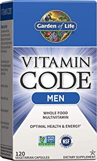 Garden of Life Vitamin Code Whole Food Multivitamin for Men - 120 Capsules, Vitamins for Men, Fruit & Veggie Blend and Pro...