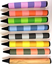 Striped Jumbo Crayons - 8 colors (write black)