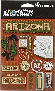 Reminisce Jet Setters Self-Adhesive Epoxy Embellishments-Arizona