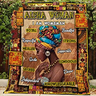 Alpha Woman - Proud African Quilt P171, King All-Season Quilts Comforters with Reversible Cotton King/Queen/Twin Size - Best Decorative Quilts-Unique Quilted for Gifts