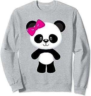 Bébé panda mignon avec un nœud Sweatshirt