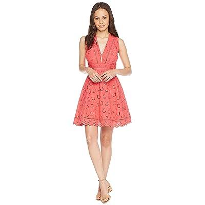 BB Dakota Vianne V-Neck Eyelet Dress (Glow) Women