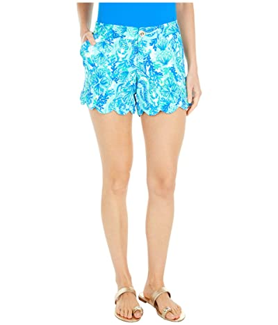 Lilly Pulitzer Buttercup Knit Shorts (Seaglass Aqua Seeing Double) Women