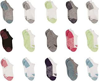 Hanes Cool Comfort No Show Socks, 15 Pack L/G (4-10) Little Girls & Big Girls, Color Vary