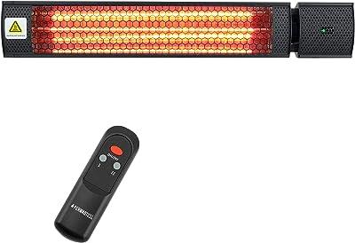 "Permasteel PH-90203-BK-AM Portable Patio Heater, 30"" x 7.68"" x 7.95"", Black"