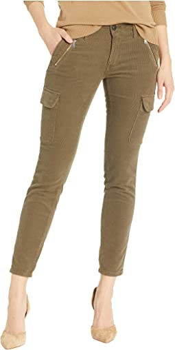 Juliette Cropped Skinny in Military Cord
