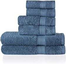 Trends Alley Eclat – Luxury, 100% Combed Cotton Towel Set (6 Pieces, 4 Colours), 500 GSM, Includes 2 Face Towels, 2 Hand T...