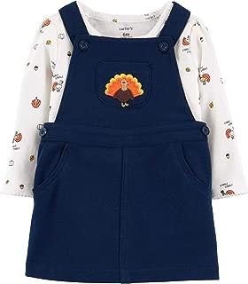 Baby Girls 2-Piece Thanksgiving Bodysuit & Jumper Set
