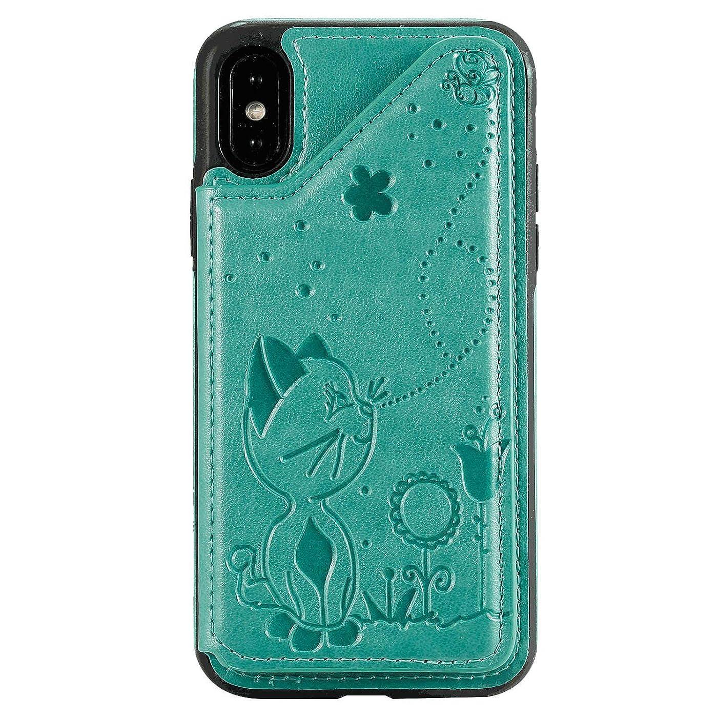 平手打ちエレメンタルチョークiPhone 11 Pro PUレザー ケース, 手帳型 ケース 本革 カバー収納 高級 ビジネス 財布 携帯カバー 手帳型ケース iPhone アイフォン 11 Pro レザーケース