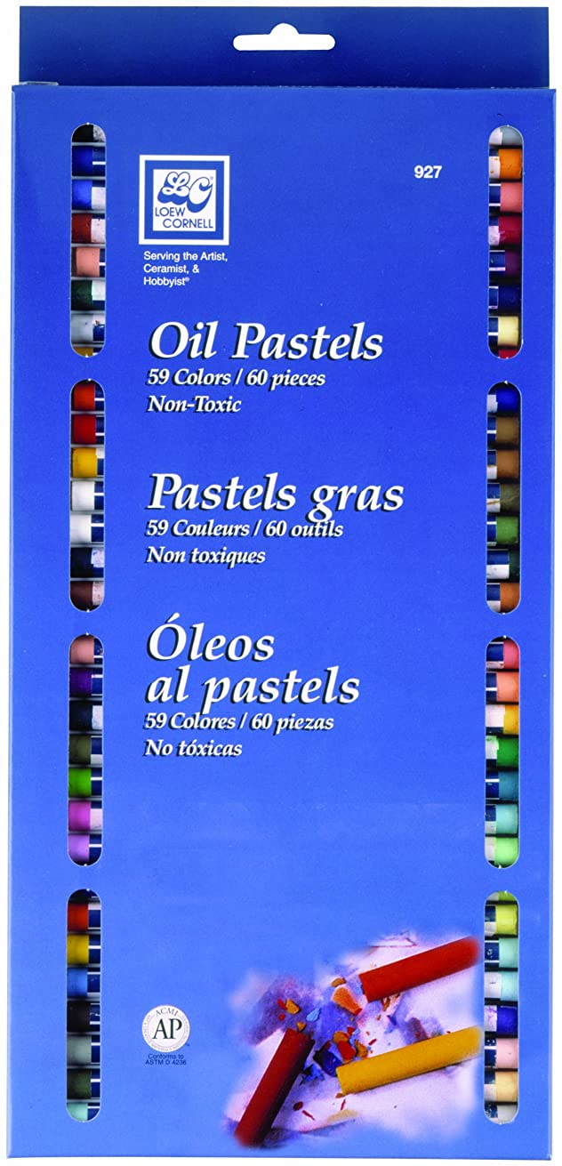 Loew-Cornell Oil Pastels, 60-Pack
