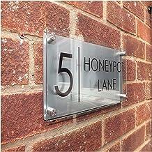 DUNRU Huisnummers 300 * 140mm Aangepaste Transparante Acryl Huisnummer Plaques Teken Platen Huisborden Met Backing Panelen...