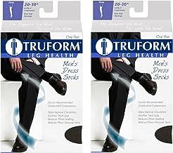 Truform Compression 20-30 mmHg Knee High Dress Style Socks Black, Small, 2 Count
