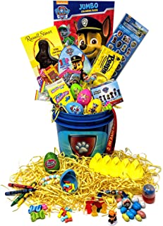 Paw Patrol Easter Gift Basket For Kids, Boys, Girls - Filled with Easter Eggs, Candy, Chocolate - Great Easter Care Package for Family and Friends