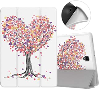 MoKo Case for Samsung Galaxy Tab S4 10.5 with S Pen Holder, Soft TPU Ultra Slim Trifold Smart Stand Cover with Auto Wake/Sleep for Galaxy Tab S4 10.5 Inch 2018 (SM-T830/T835/T837) Tablet - Love Tree