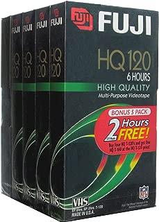 Fuji VHS Videocassettes Bonus 5 Pack (4 HQ 120 and 1 HQ 160)
