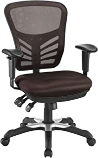 Modway Articulate Ergonomic Mesh Office Chair in Brown