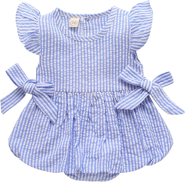 ZOELNIC Newborn Baby Girl Romper Ruffle Oklahoma City Mall Linen St Bodysuit Milwaukee Mall Sleeve