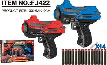 ROLL UP KIDS HIGH SPEED 2 PISTOL GUN & 14PCS SOFT BULLET GUN