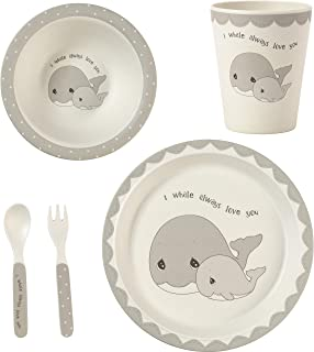 Precious Moments 182417 5 Whale Gift Mealtime Feeding Set, One Size, Multi